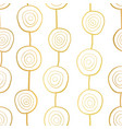 metallic golden circles along vertical lines vector image vector image