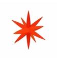 Moravian star star icon cartoon style vector image vector image