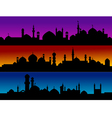 Mosque silhouette cityscapes vector image