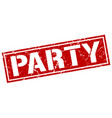 party square grunge stamp vector image vector image