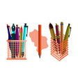 pencil pen design template set vector image vector image