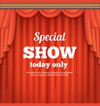 poster with theater stage and red curtain cartoon vector image vector image