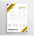 professional clean invoice template design vector image vector image