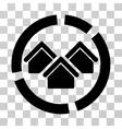 Realty Diagram Icon vector image