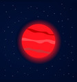 red planet in starry space vector image vector image