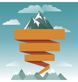 retro design template with mountain icon vector image vector image