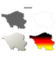 Saarland blank outline map set vector image vector image