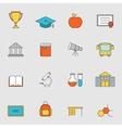 School education flat line icons vol 3 vector image vector image