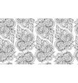 Seamless doodle flower background in with vector image vector image