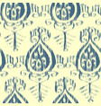 seamless ikat pattern blue and cream vector image vector image