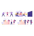 set businesspeople colleagues fighting vector image vector image