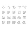 set customer review line icons client vector image