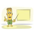 teacher explain lesson vector image vector image