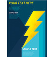 ThunderPoster vector image