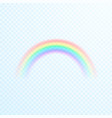 transparent colorful rainbow icon abstract vector image