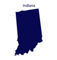 united states indiana dark blue silhouette the vector image
