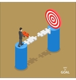 Way to the goal isometric flat concept vector image