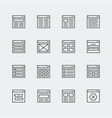 website or application wireframe template vector image vector image