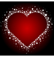 white heart frame background vector image vector image