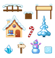 Winter assets vector image vector image