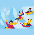 with lovely family tubing down vector image vector image