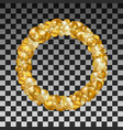 wreath golden balls on a transparent background vector image