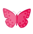 Pink Butterfly flat design Isolated on white vector image