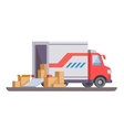 Delivery truck with box vector image