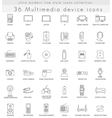 Multimedia Devices ultra modern outline vector image