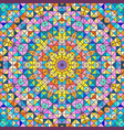 abstract colorful digital decorative flower vector image