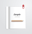 book open with pencil magazine template vector image