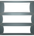 Empty White Banners vector image