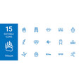 15 track icons vector image vector image