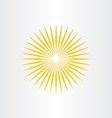 abstract sun sunshine icon design vector image vector image