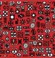 african adinkra pattern vector image