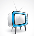 antique television vector image vector image
