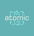atomic logo vector image