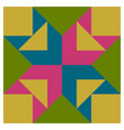 barn quilt pattern amish patchwork design vector image vector image
