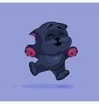 Black cat rejoices vector image