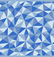 blue crumpled paper with geometric seamless vector image