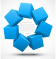 Blue cubes 3D vector image vector image