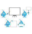 blue water drop characters collection - 3 vector image vector image