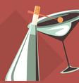 champagne bottle design vector image vector image