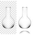 Chemical Laboratory Glassware Or Beaker Glass vector image vector image
