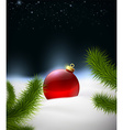 Christmas background with Christmas ball in the vector image vector image
