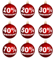 christmas or year-end or new year discount labels vector image vector image