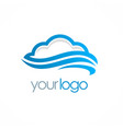 cloud storage logo vector image vector image