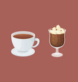 coffee and sweet dessert isolated vector image vector image