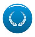 crown wreath icon blue vector image vector image