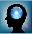 crystal ball in the human head vector image
